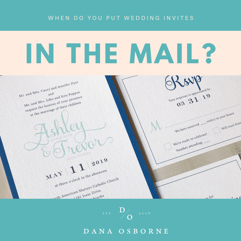 invitations, wedding, mail, date, dana Osborne design, Omaha, midwest