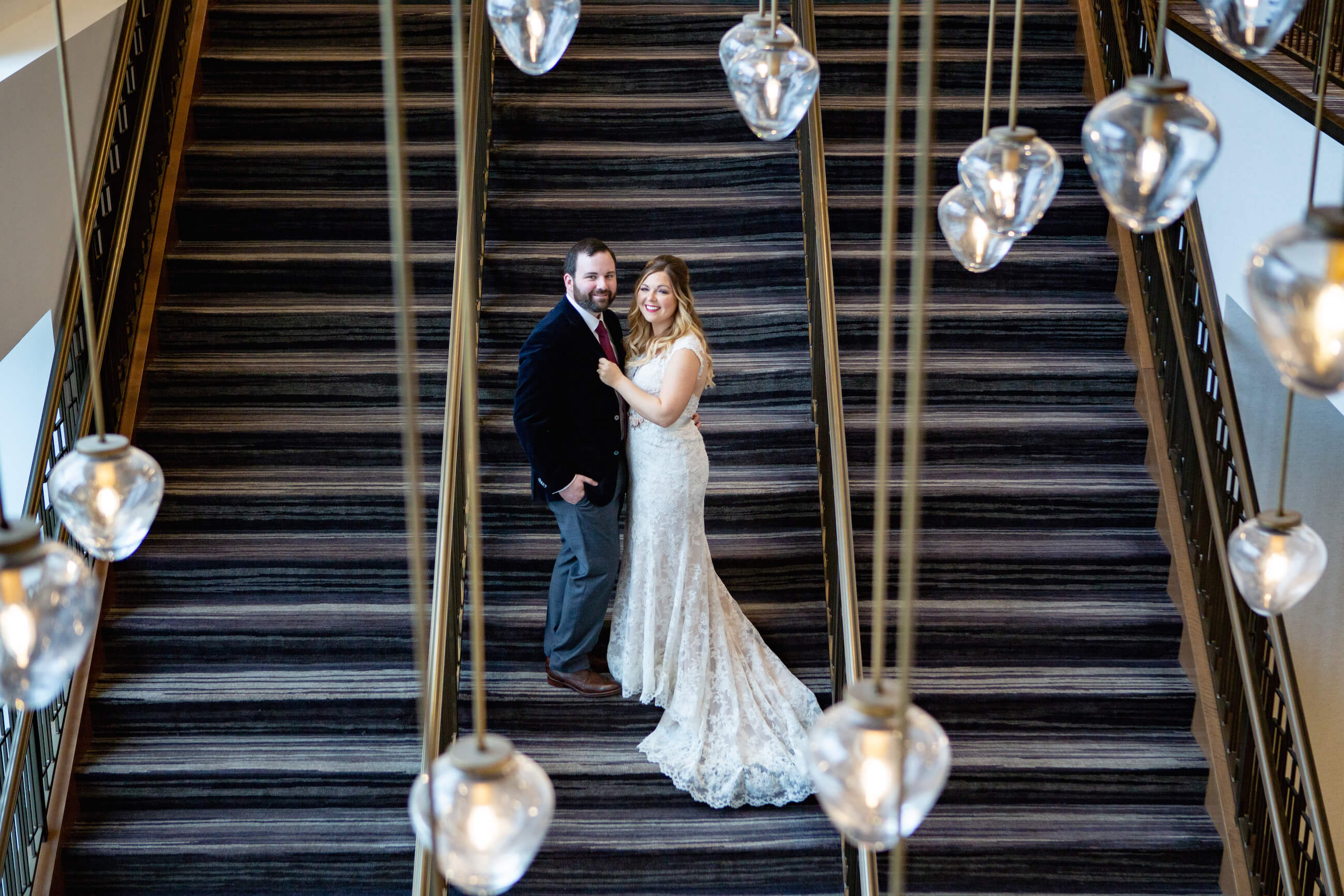 First look, wedding reception, Omaha, Nebraska, Marriott Capitol District.