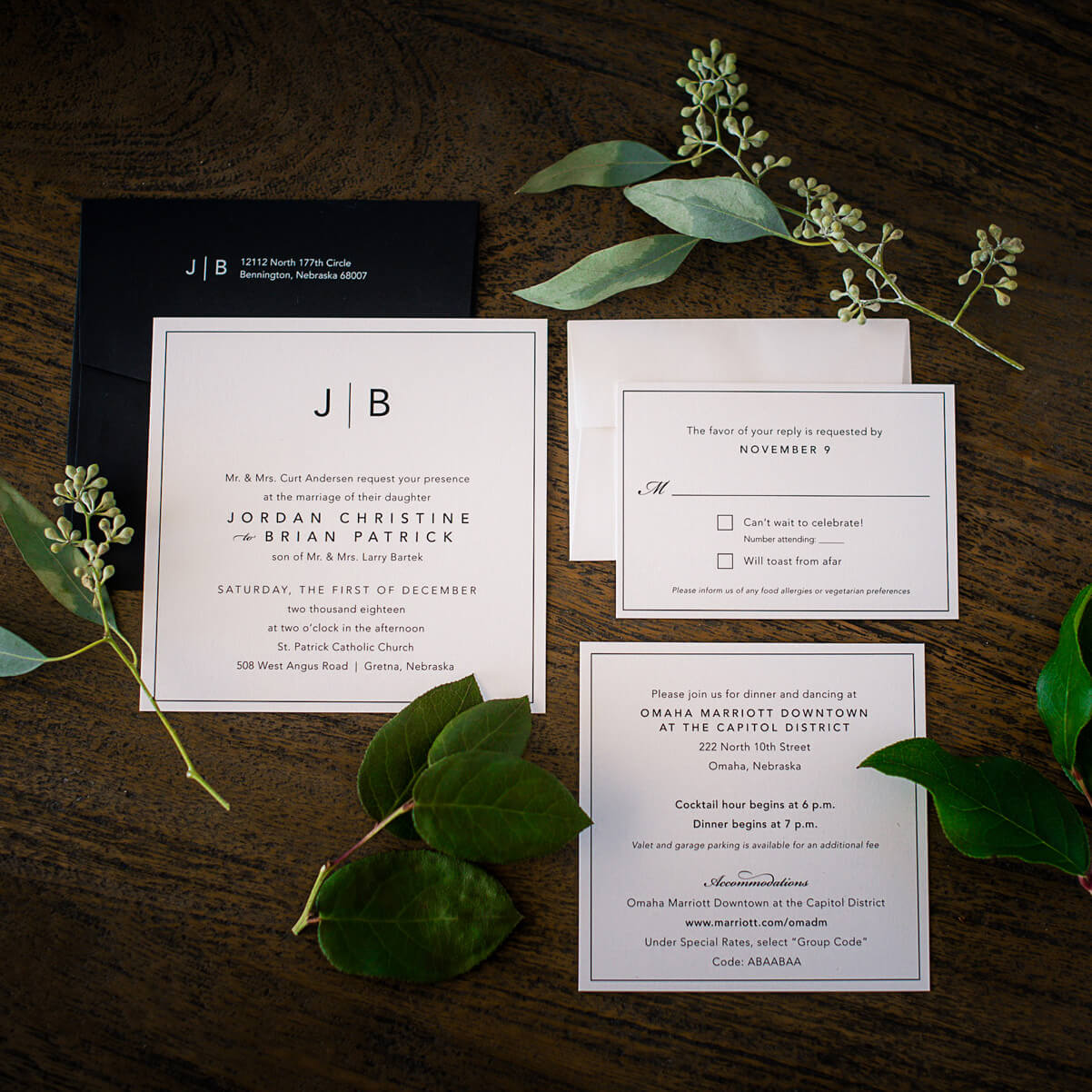 square wedding invitations dana osborne design