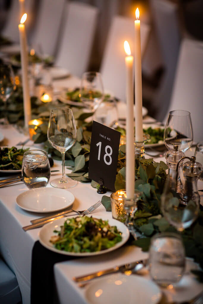 Table Numbers Omaha, Nebraska Wedding