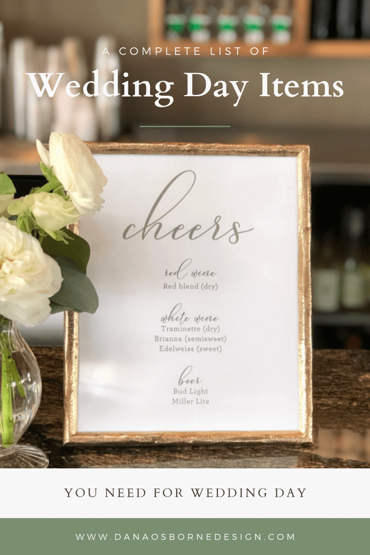 wedding day items, ceremony programs, wedding signs, seating chart, welcome signs, wedding menus, dana Osborne design, Omaha, midwest, affordable