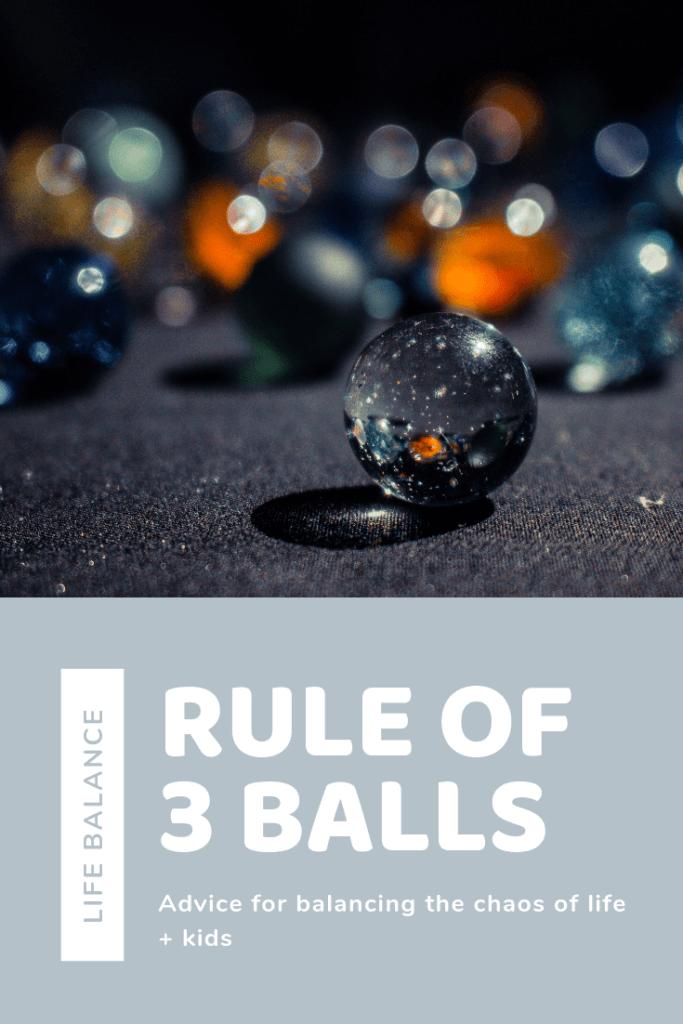 work life balance, three balls, work at home, dana osborne design