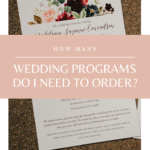How Many Ceremony Programs to Order