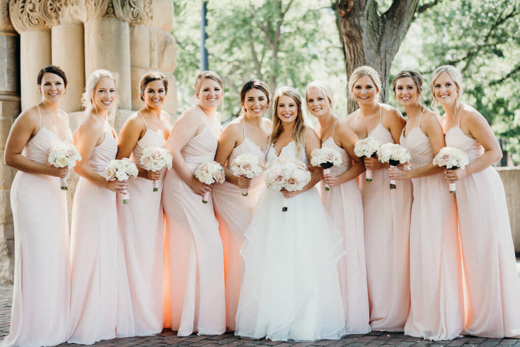 Blush Bridesmaid Dresses Omaha