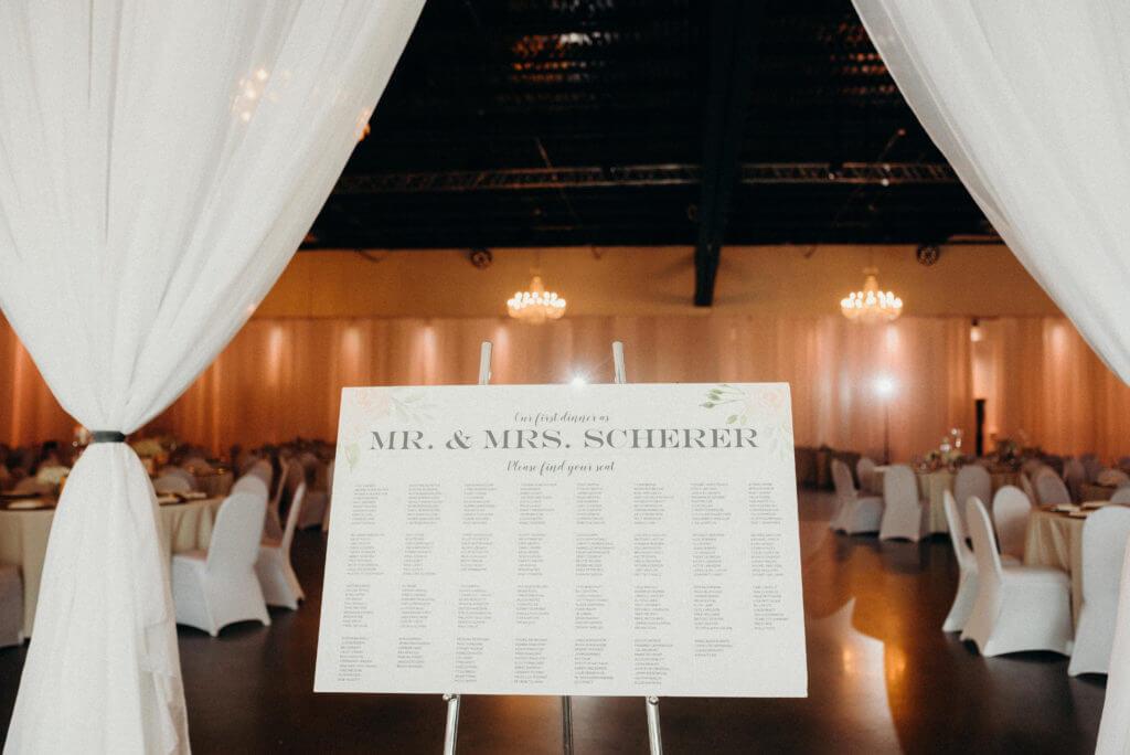 Seating Chart Wedding Omaha, Nebraska