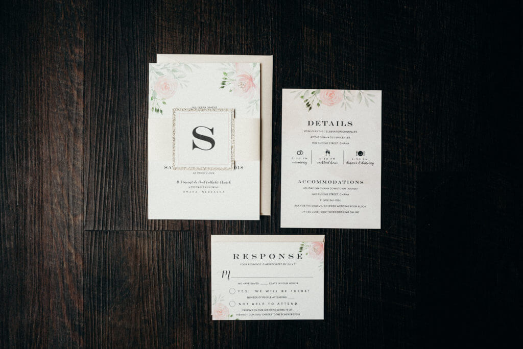 Blush Watercolor Wedding Invitations