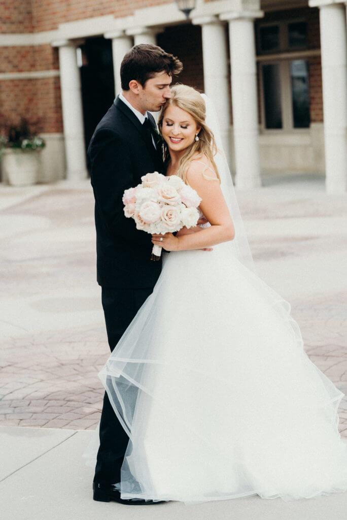 couple downtown omaha wedding