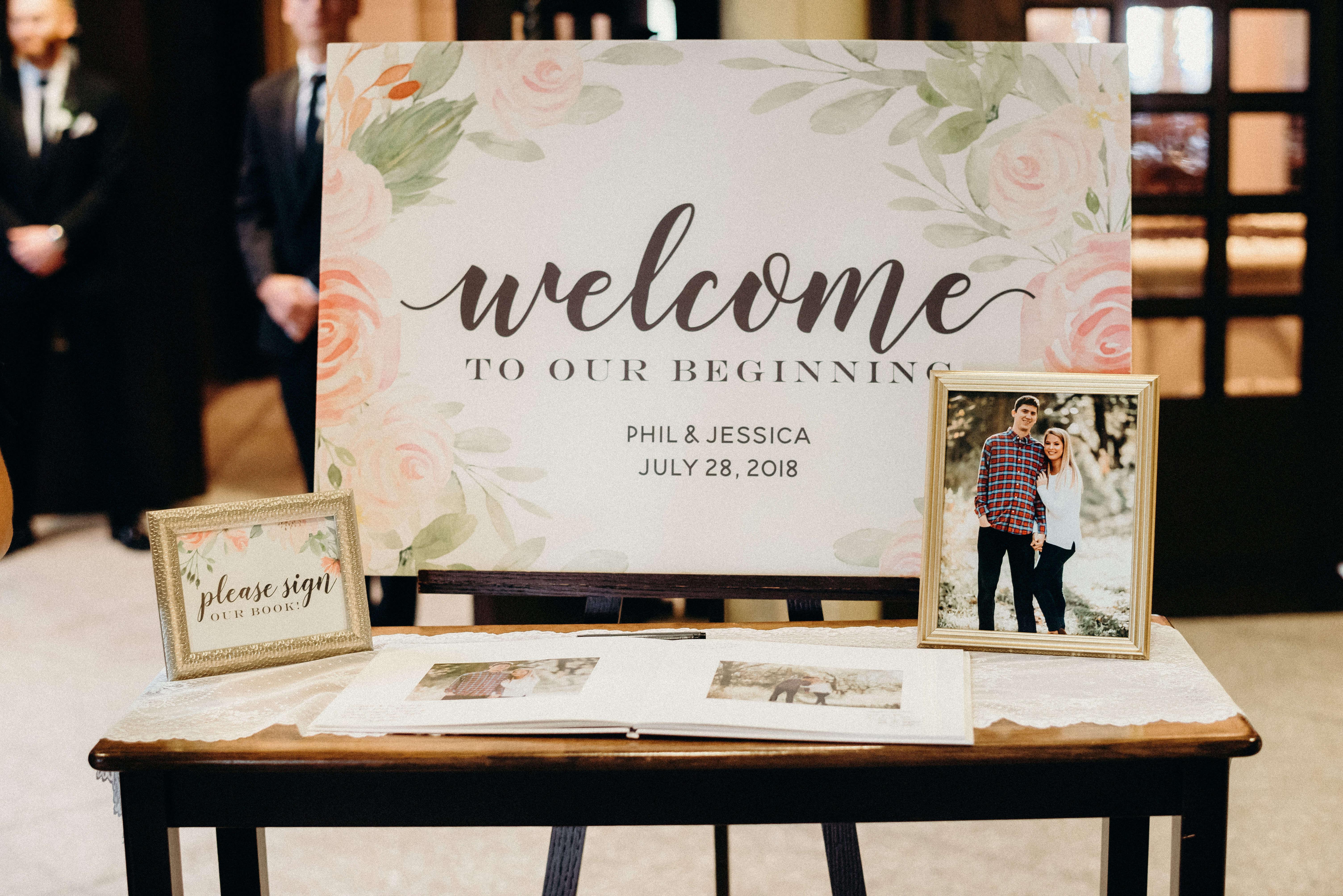 Welcome Sign Wedding Omaha