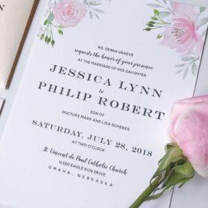 Wedding Invitation Omaha, Nebraska