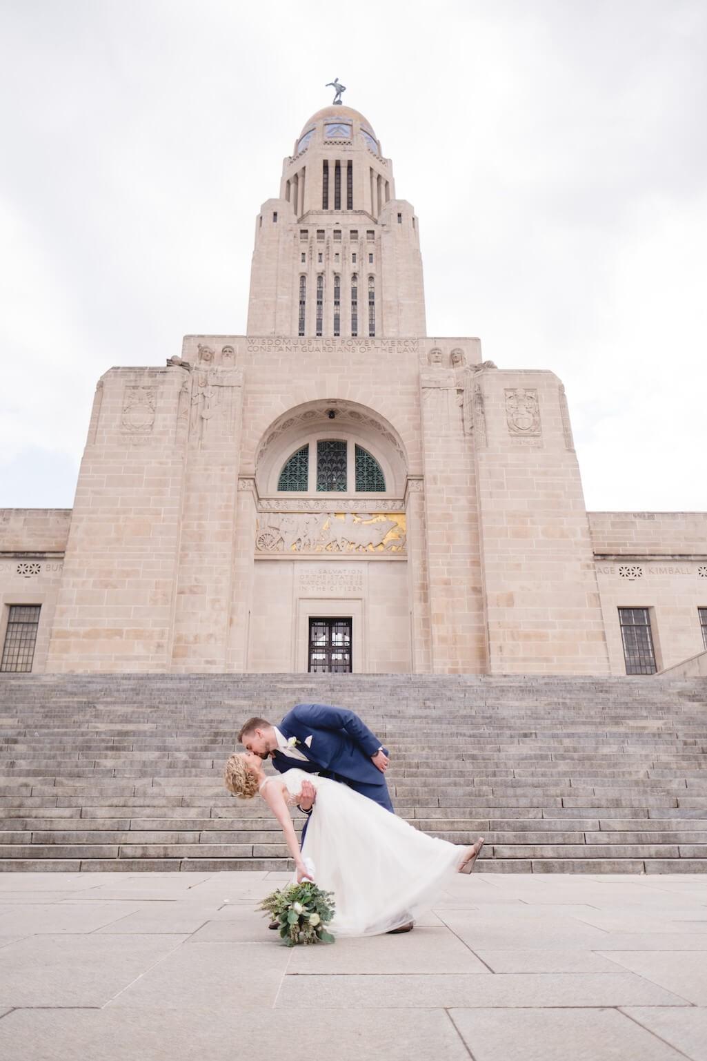 Lincoln, Nebraska capital building wedding photography