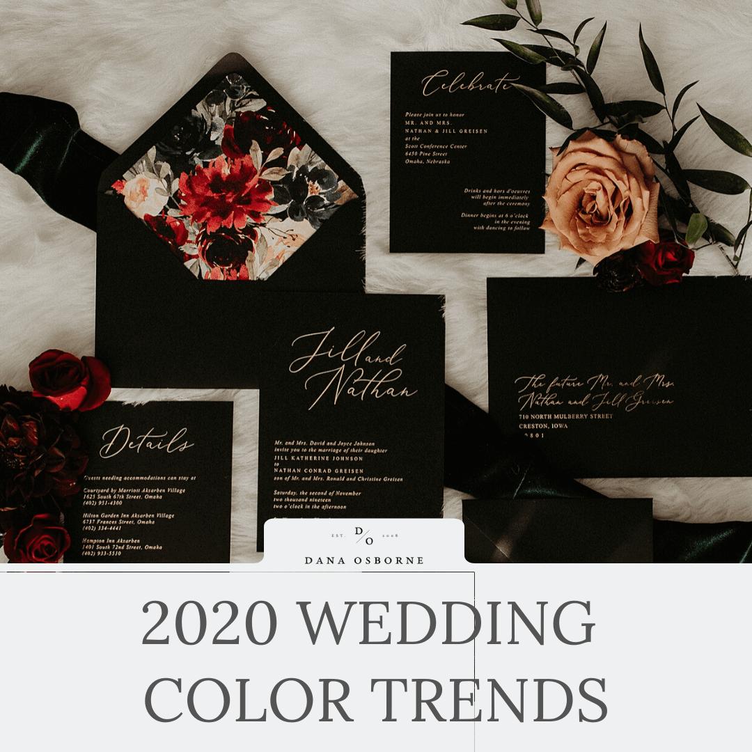 wedding trends, 2020, wedding colors, dana Osborne design, Omaha, midwest, affordable