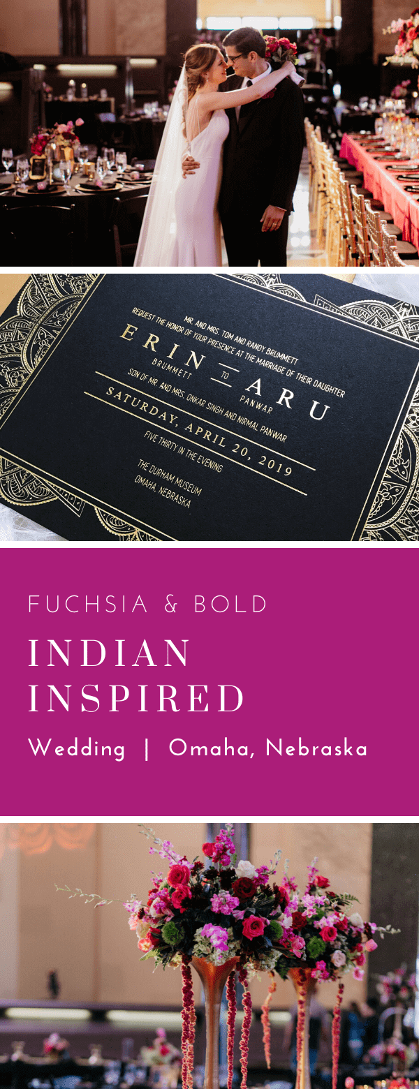 indian, wedding, gold foil, black, dana Osborne design, Omaha, midwest, affordable