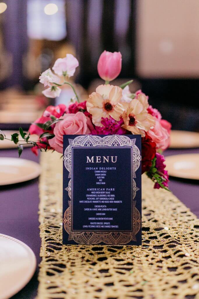 Wedding Menu Indian American Culture, Durham Museum  |  Dana Osborne Design
