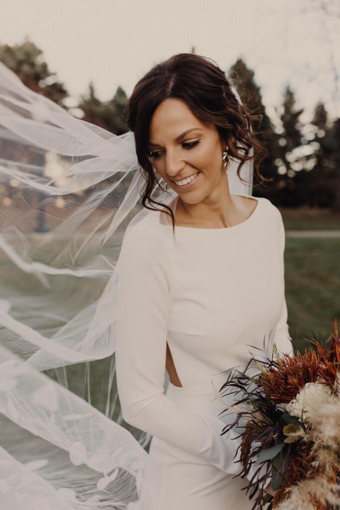 Bride Fall Wedding Omaha, Nebraska Dana Osborne Design