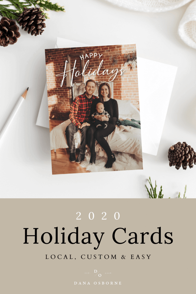 Local Omaha, Nebraska holiday Christmas cards.  Order online and have custom holiday cards in your hands before the snow falls!  Dana Osborne Design.