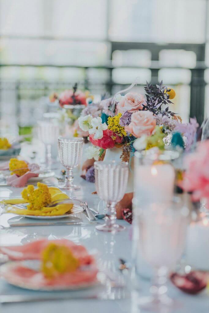 Iridescent Wedding Invitations.  Styled shoot at Cafe Postale Omaha, Nebraska.  Styled by Tiny Luxe Weddings.