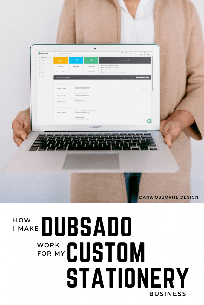 How I make Dubsado work for my custom Stationery business.  CRM System with stationery.