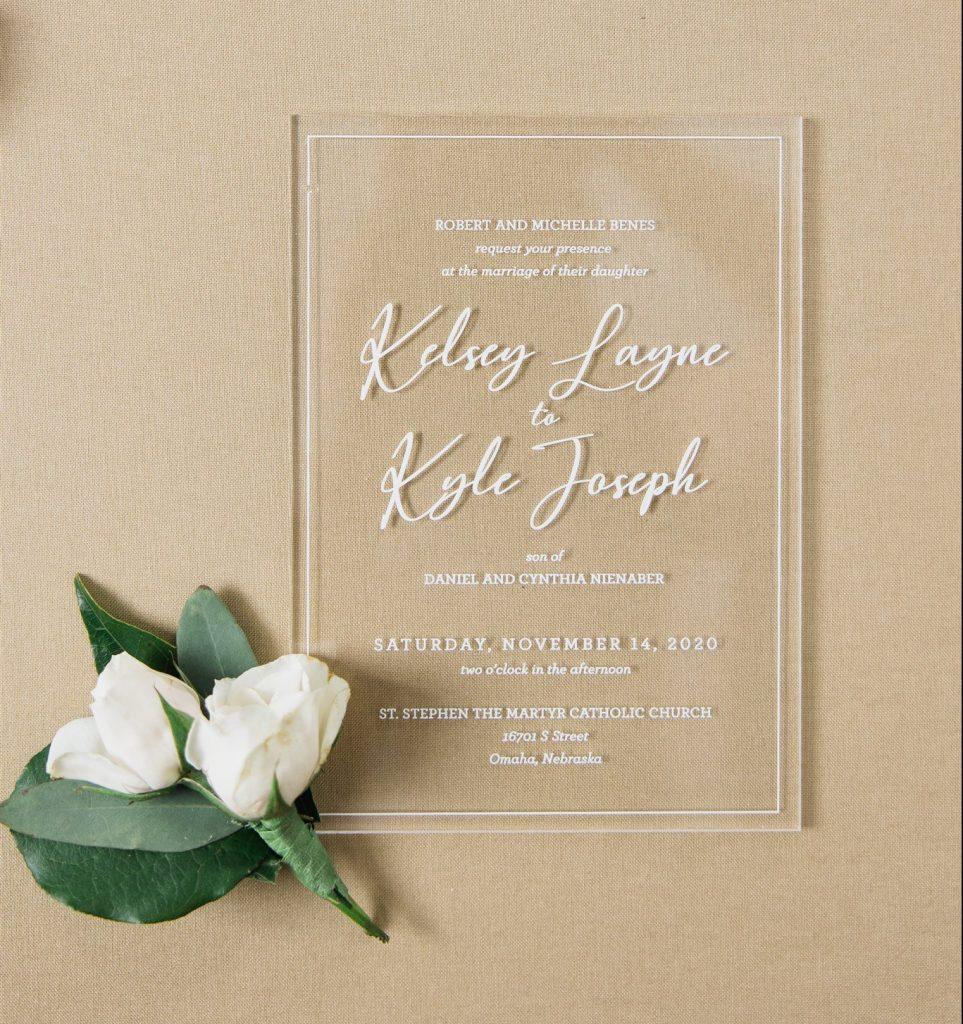 acrylic wedding invitations midwest wedding