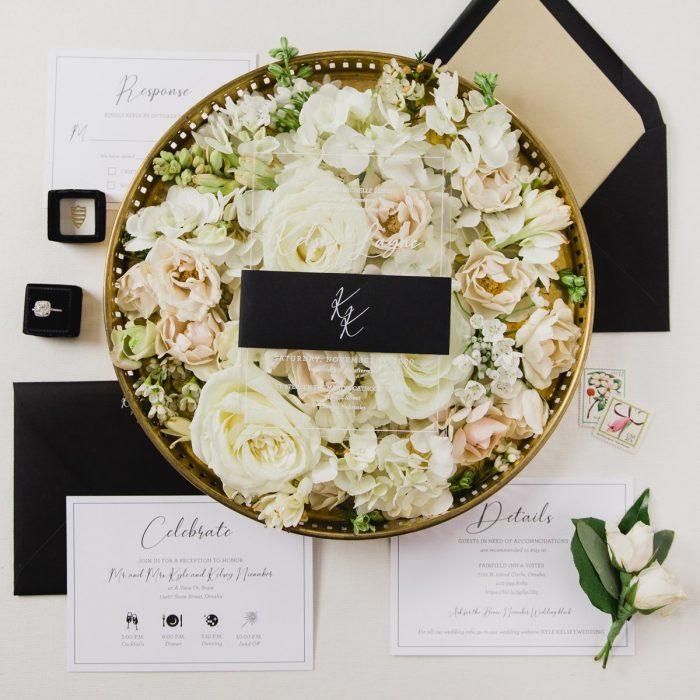 acrylic wedding invitations midwest nebraska omaha