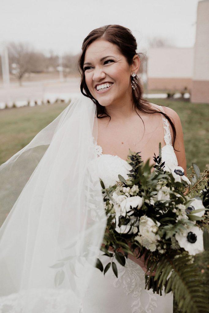 acrylic wedding invitations bride portrait nebraska