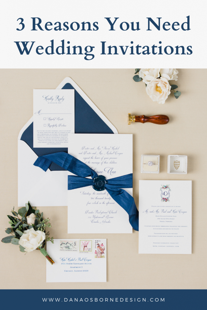 Do I need wedding invitations? The answer is yes...and here are three reasons why they're important.