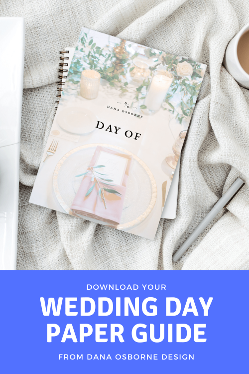 Wedding Day Paper Guide